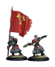 Khador Winter Guard Officer & Standard (2)